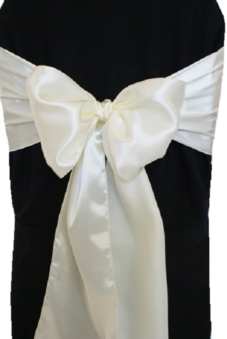 Ivory Satin Chair Sash