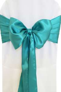 Jade Satin Chair Sash