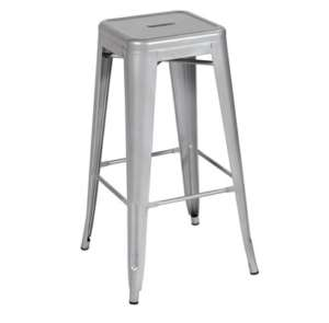 Metal, Silver Bar Stool