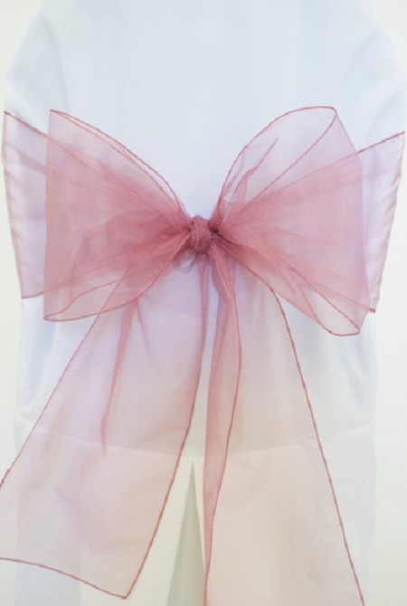 Mauve Organza Chair Sash