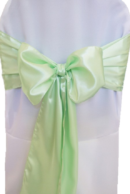 Mint Satin Chair Sash