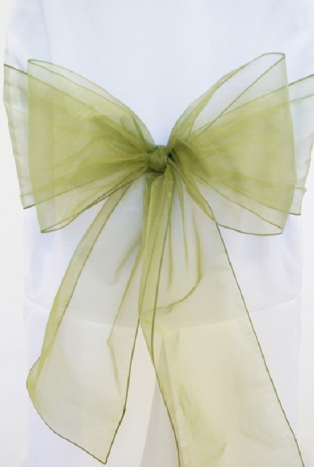 Moss Organza Chair Sash