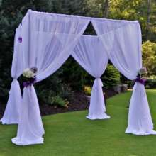 Canopy w/ White Sheer drape