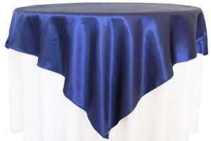 Navy Blue 72″ x 72″ Satin Overlay