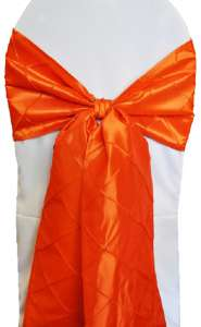Orange Pintuck Chair Sash