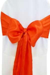 Orange Satin Chair Sash
