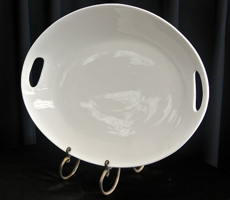 White, Oval W/Handle, 22″ X 17″