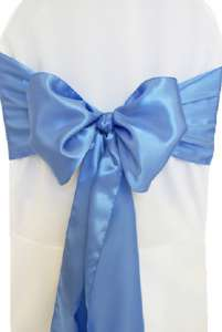 Periwinkle Satin Chair Sash