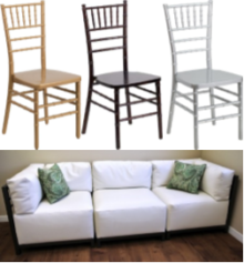 September Specials! $5 Chiavari Chairs and 10% OFF Lounge Furniture