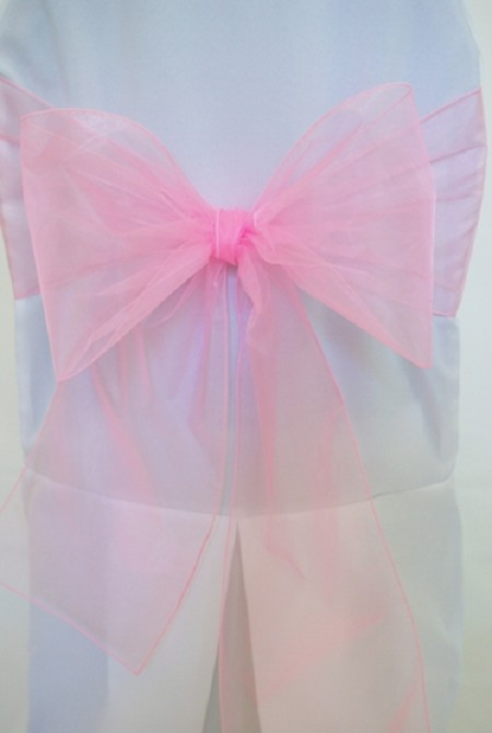 Pink Organza Chair Sash