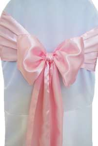 Pink Satin Chair Sash
