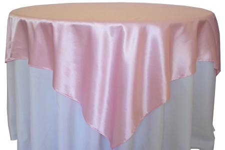 Pink 72″ x 72″ Satin Overlay