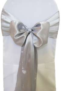 Platinum Satin Chair Sash