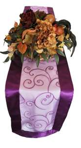 Purple Embroidered Organza Runner 12″ x 108″