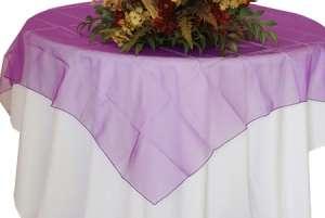 Purple 72″ x 72″ Organza Overlay