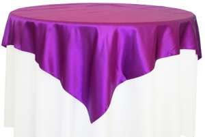 Purple 72″ x 72″ Satin Overlay