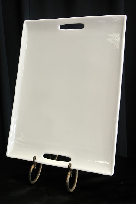 White, Rect. W/Handle, 20″ X 15″