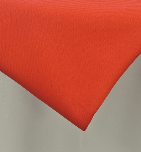Red 90″ Round Poly