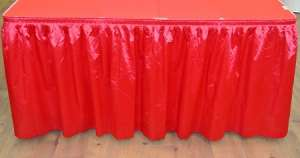 Red 14ft Polysateen Skirt