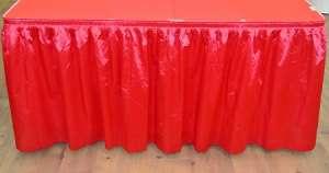 Red 14ft Polysateen Skirt