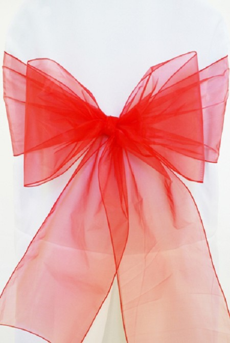 Red Organza Chair Sash