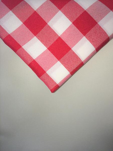 Red & White Gingham 108″ Round Poly
