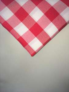 Red & White Gingham 90″ x 156″ Poly