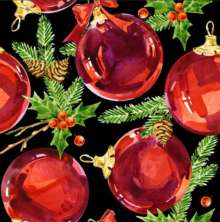 Red Ornament/Baubles Table Runner 13″ x 108″
