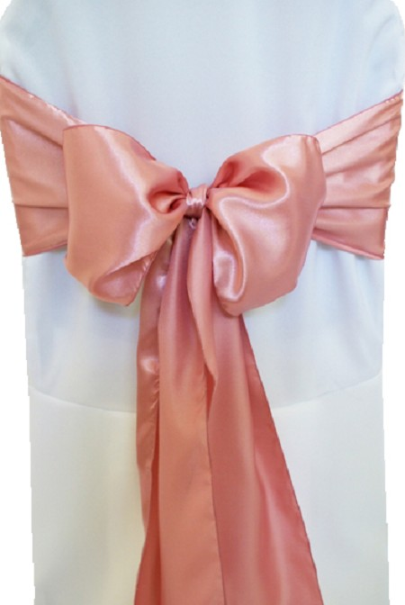 Rose Satin Chair Sash