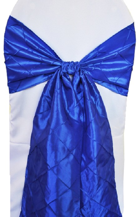 Royal Blue Pintuck Chair Sash