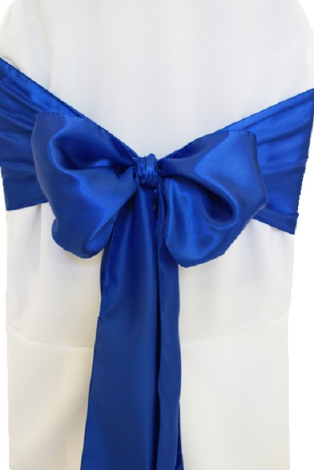 Royal Blue Satin Chair Sash