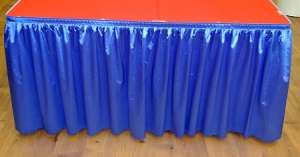 Royal Blue 14ft Polysateen Skirt