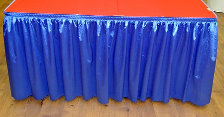 Royal Blue 14ft Polysateen Skirt