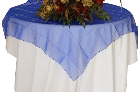 Royal Blue 72″ x 72″ Organza Overlay