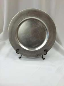 Plate, Charger, Silver, 13″