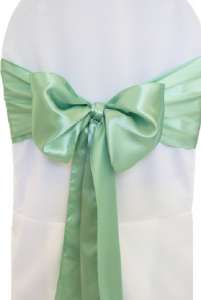 Sage Green Satin Chair Sash