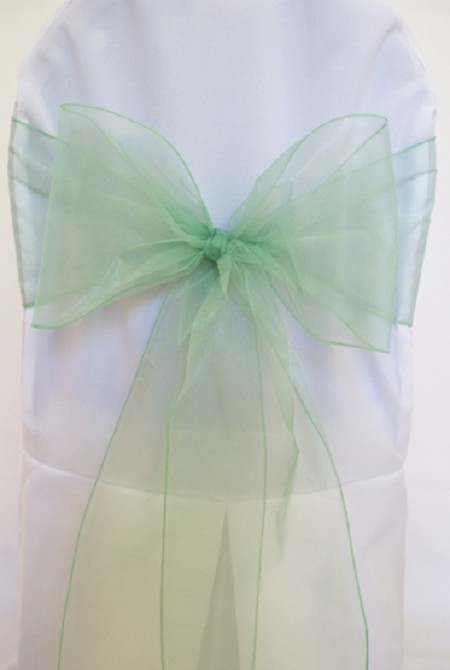 Sage Green Organza Chair Sash