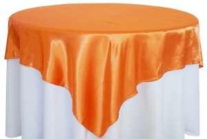 Tangerine 72″ x 72″ Satin Overlay