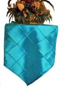 Turquoise Pintuck Runner 13″ x 108″