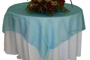Turquoise 72″ x 72″ Organza Overlay