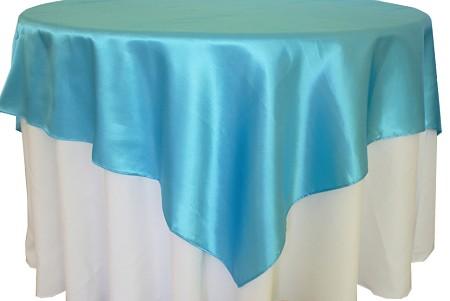 Turquoise 72″ x 72″ Satin Overlay