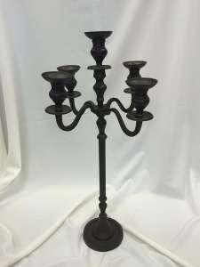30″ Onyx Bronze Candelabra, Tabletop