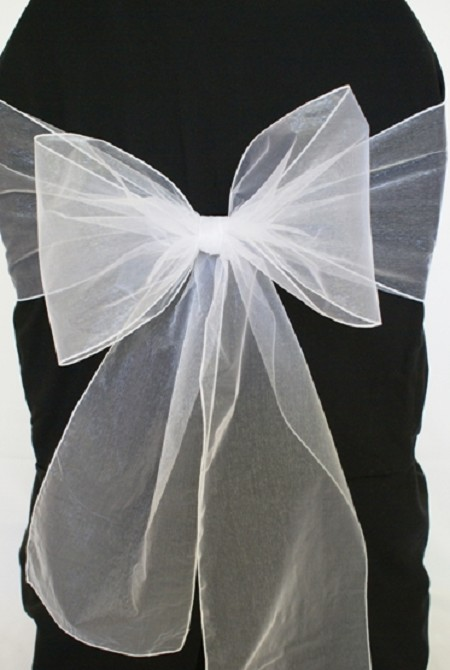 White Organza Chair Sash