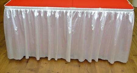 White 14ft Polysateen Skirt