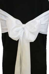 White Satin Chair Sash