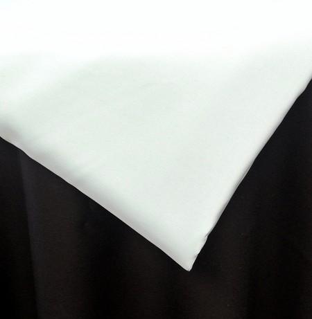 White 90″ Round Poly