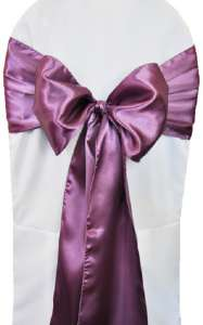 Wisteria Satin Chair Sash