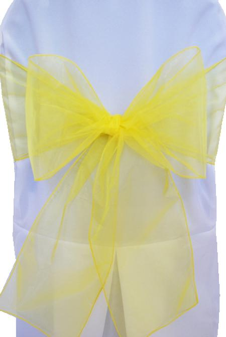 Yellow Organza Chair Sash