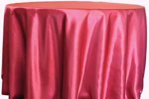 Apple Red 120″ Round Satin