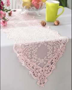 Blush 13″x108″ Floral Lace Runner